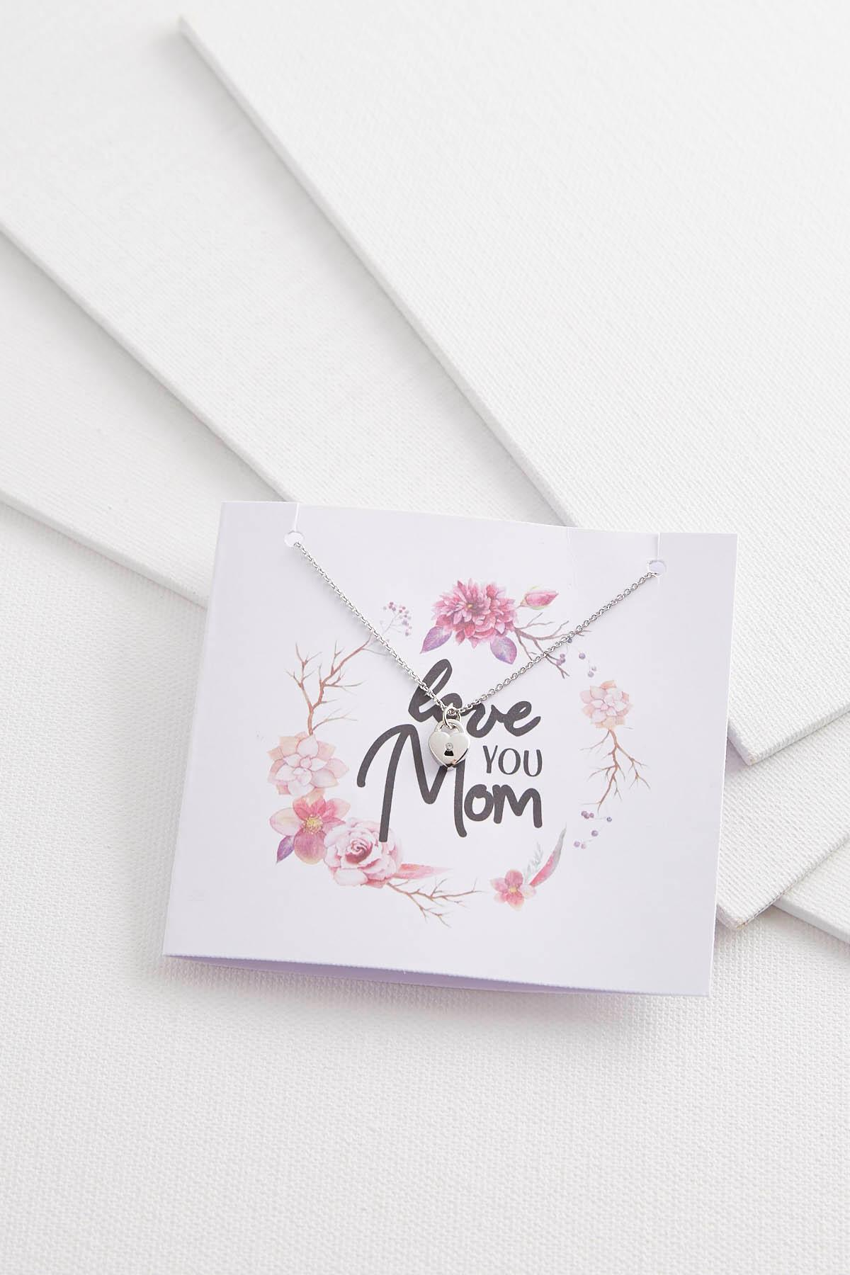 Love You Mom Pendant Necklace