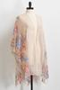 Sheer Floral Embroidered Kimono