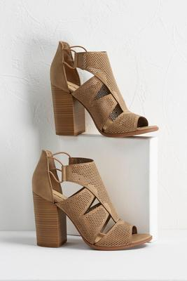 perforated block heels