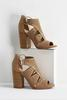 Perforated Block Heels