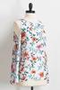 Floral Slit Tie Sleeve Top
