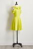 Lime Ruffle Fit And Flare Dress