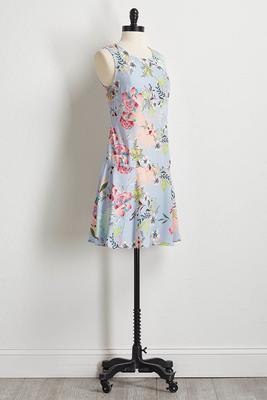 spring garden shift dress