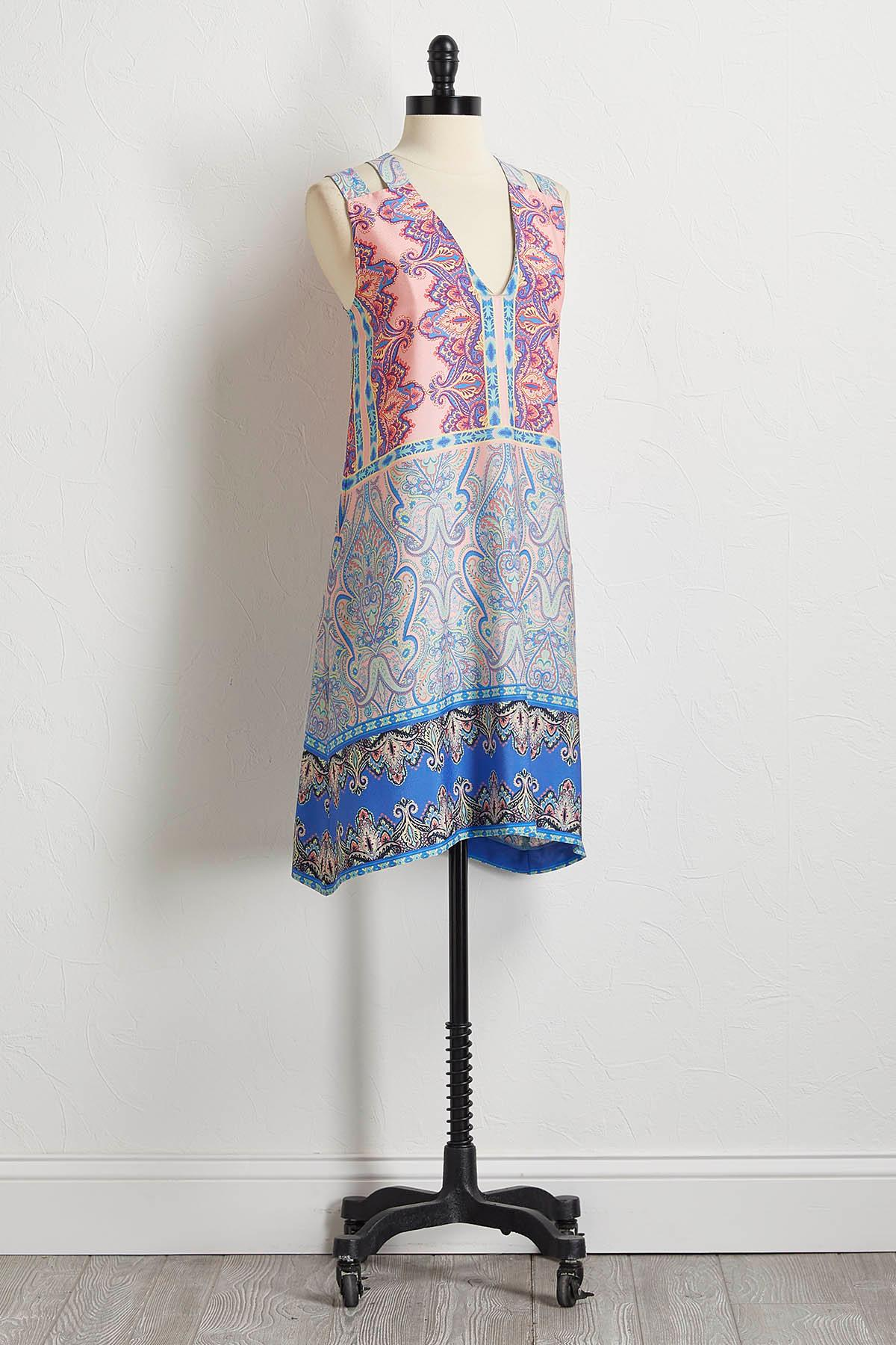 Mixed Pretty Paisley Shift Dress