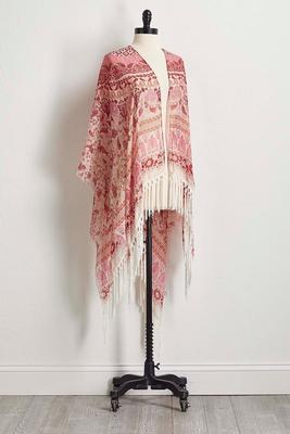 fringed paisley kimono