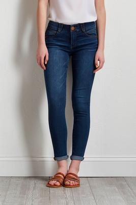 shape enhancing medium wash jeans