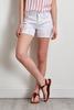 Embroidered Eyelet Denim Shorts