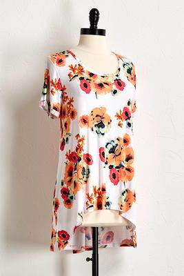 floral split back tunic