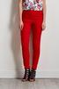 Red Pull- On Ankle Pants