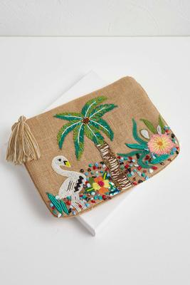 beaded island dreams pouch