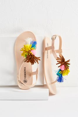 embellished jelly sandals