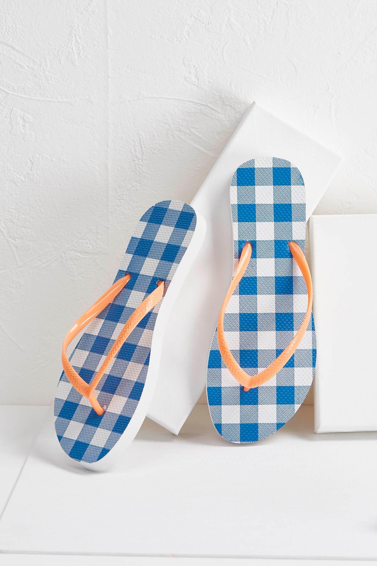 Gingham Flip- Flops