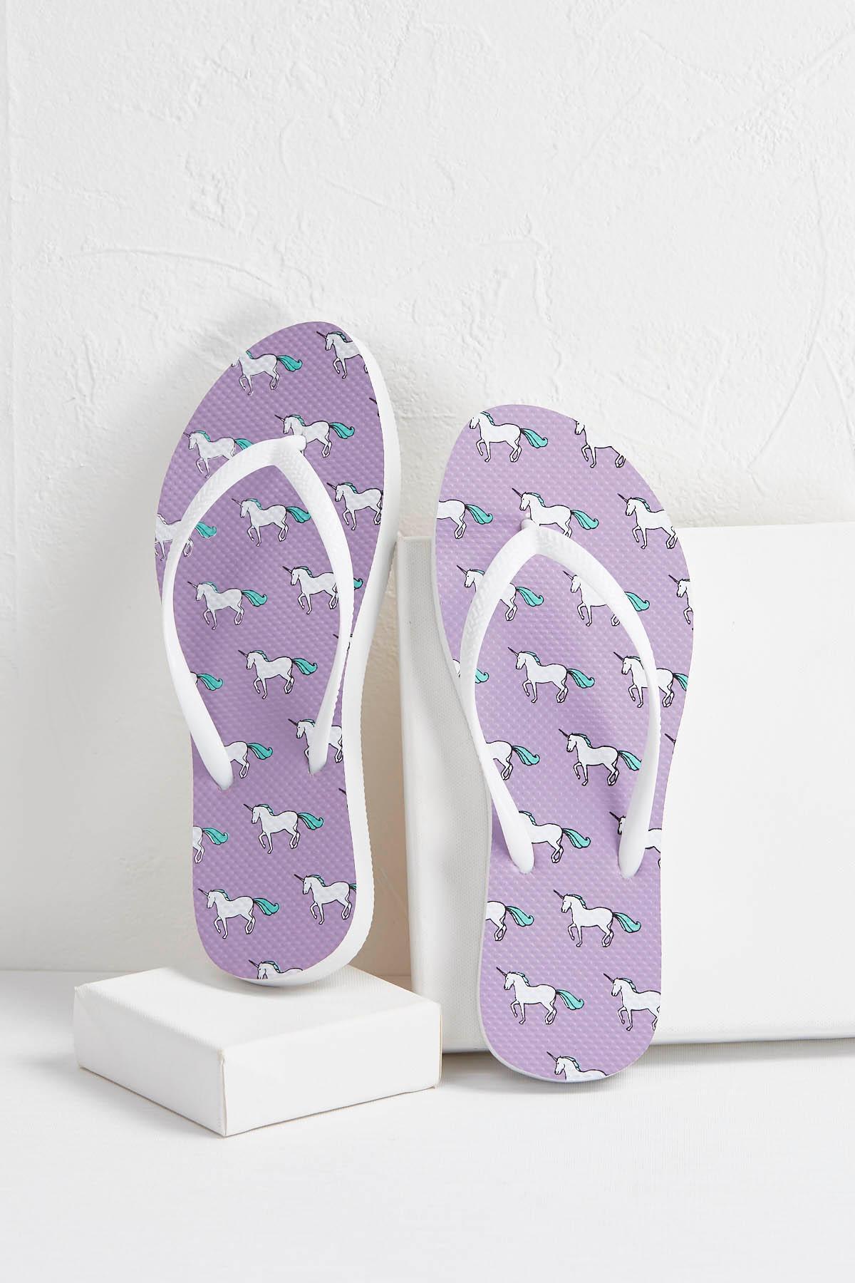Lavender Unicorn Flip- Flops