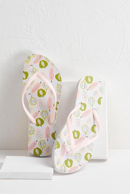 pastel fruit flip-flops