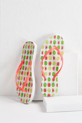 watermelon flip-flops
