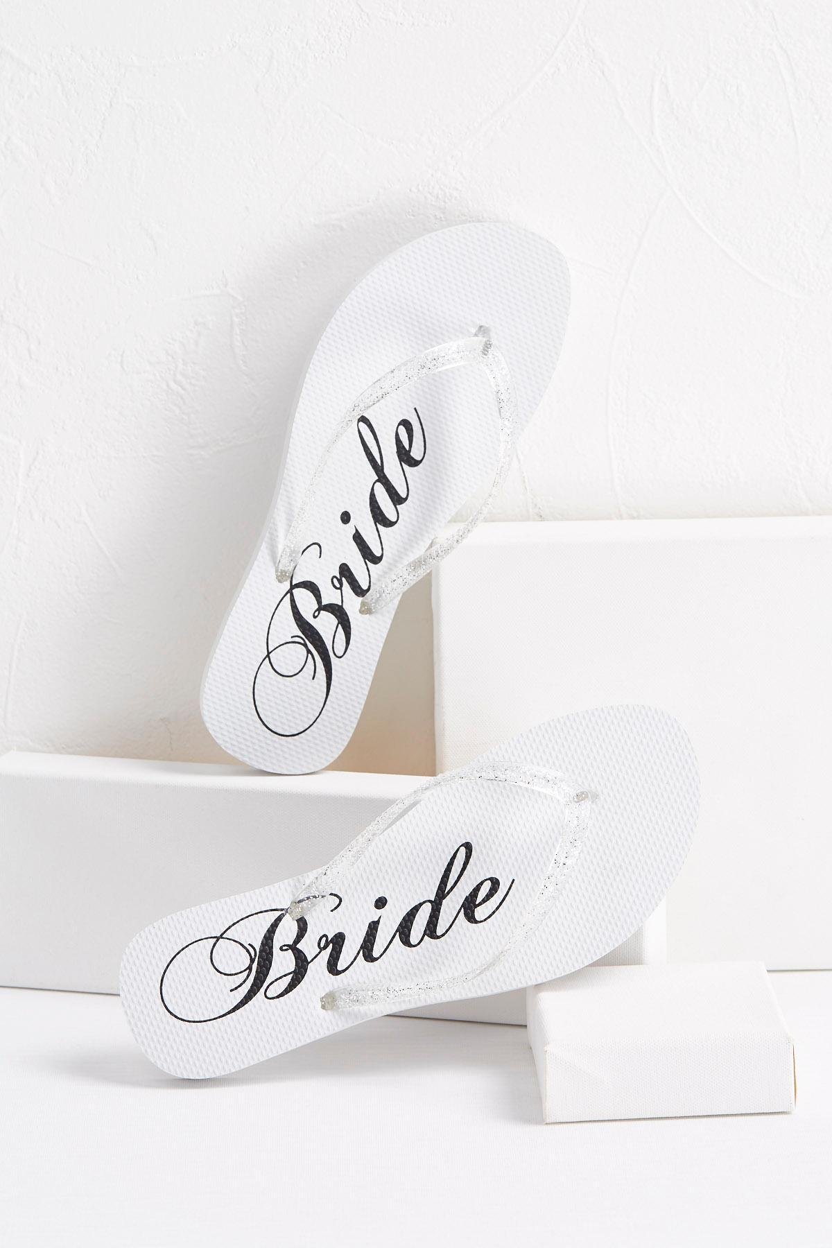 Glitter Bride Flip- Flops