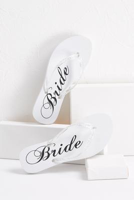 glitter bride flip-flops