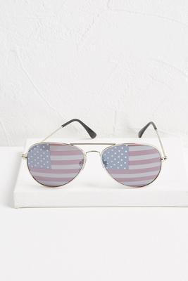 american flag aviator sunglasses