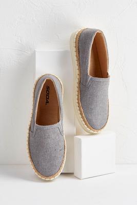 gray linen sneakers