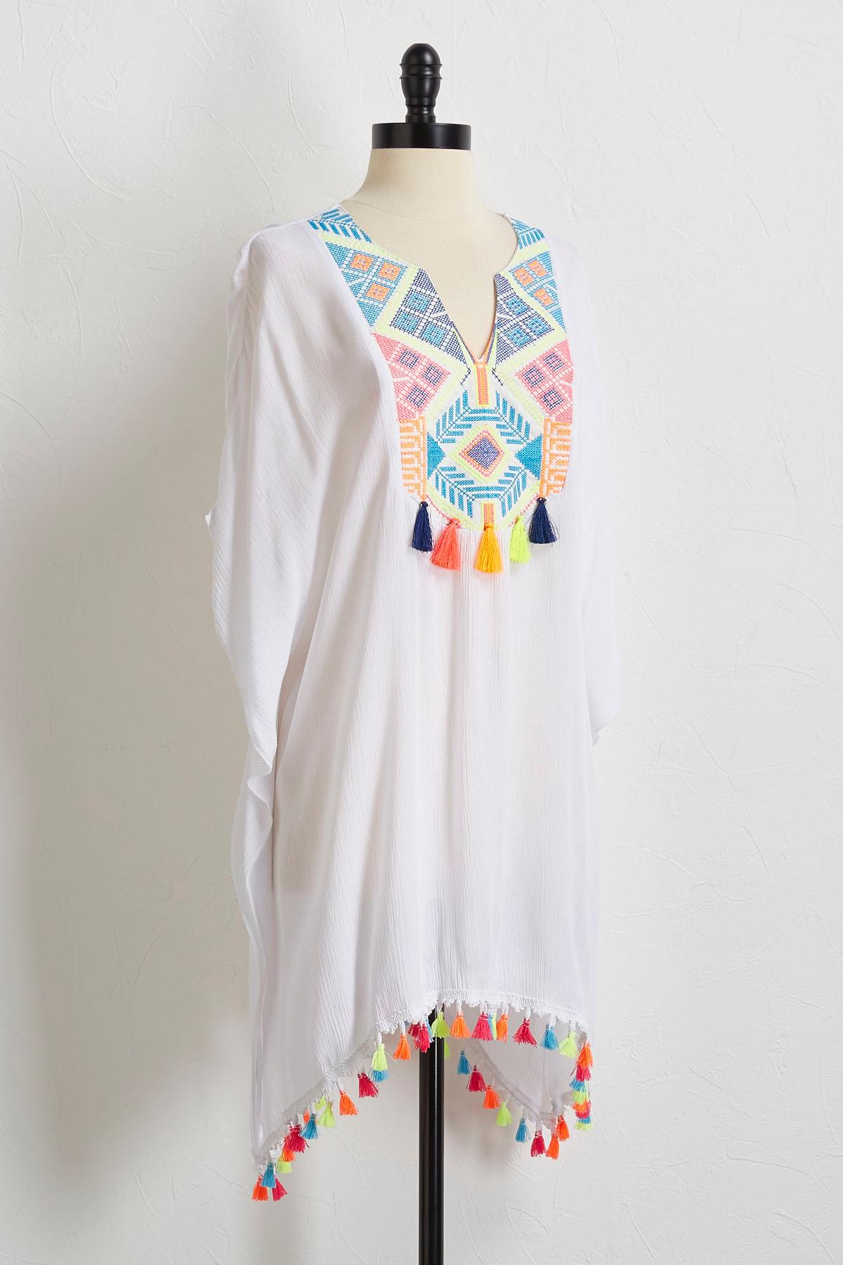 Neon Embroidered Cover- Up