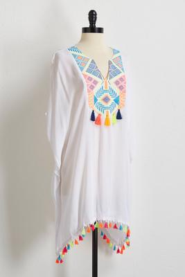 neon embroidered cover-up