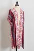 Bordered Mixed Floral Kimono