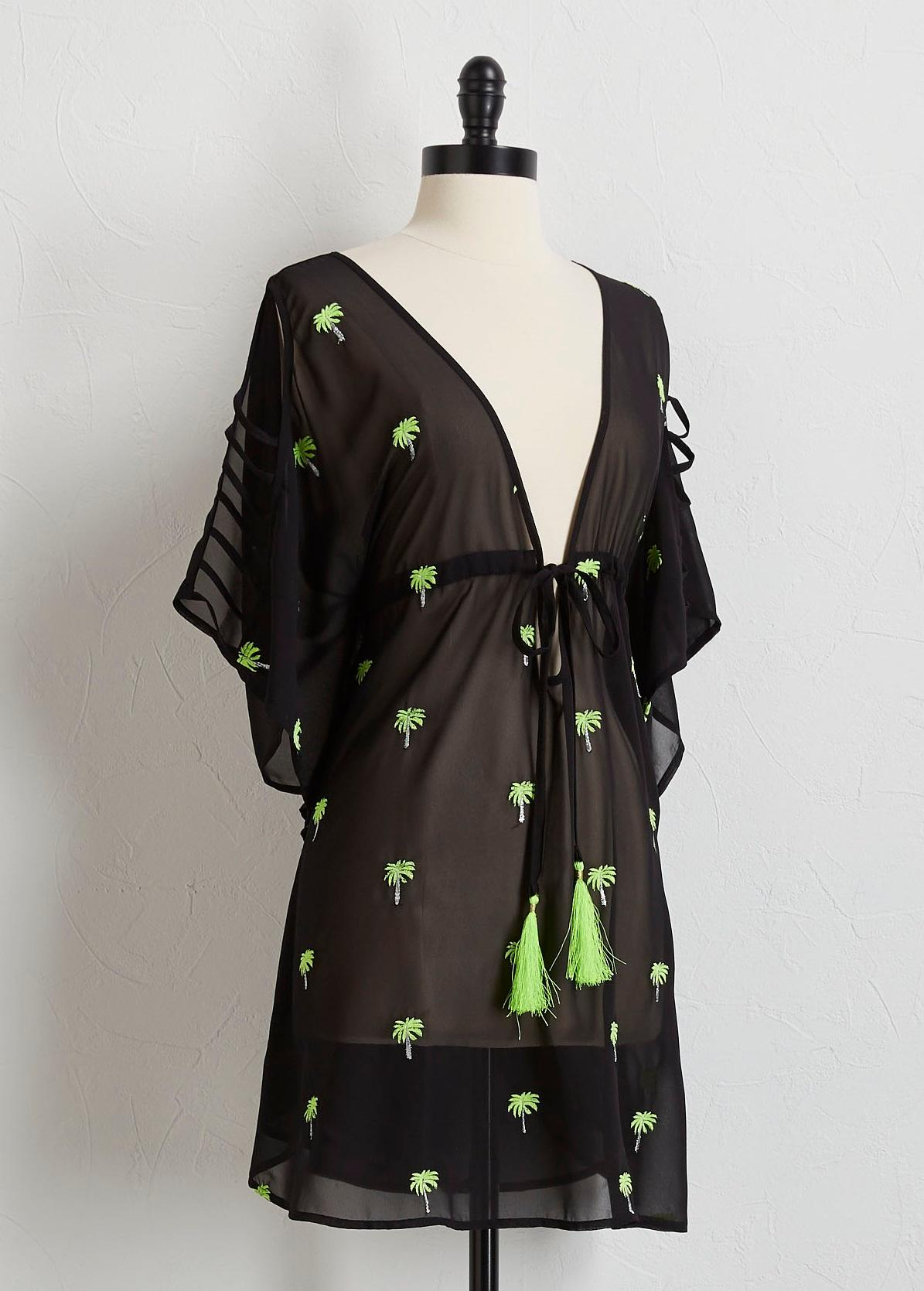 Palms And Tassels Cover- Up