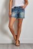 Pearl Embellished Denim Shorts