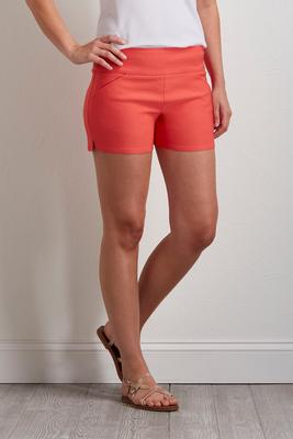 neon pull-on shorts