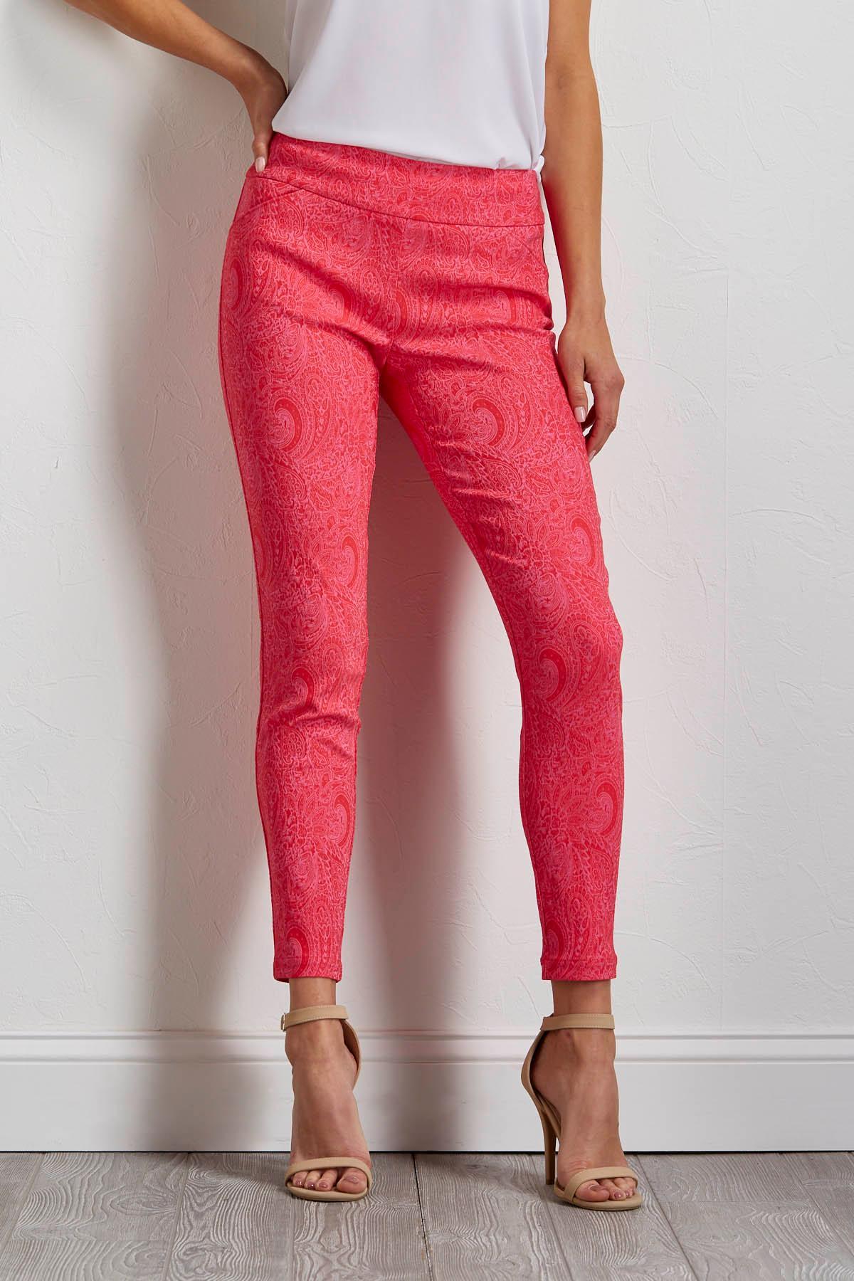 Pink Paisley Bengaline Pants