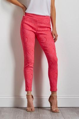 pink paisley bengaline pants s
