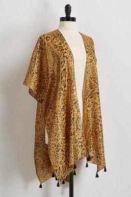 gilded leopard kimono