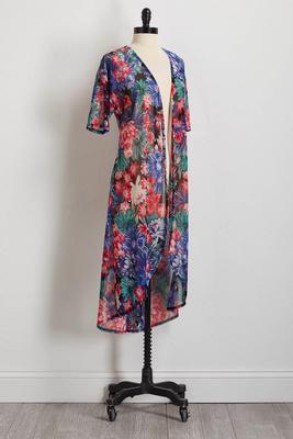 tropical mesh kimono