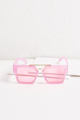 neon square sunglasses