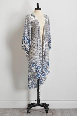 embellished riveria kimono