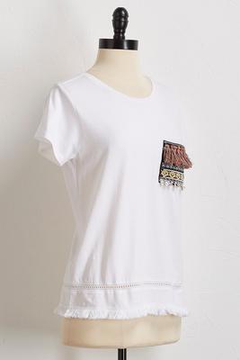 moroccan embellished tee