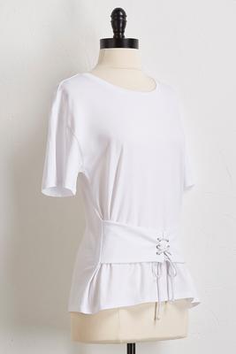 white corset tee