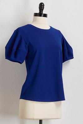 puff sleeve skimmer top