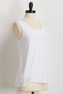 side ruched hem tank