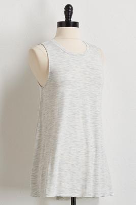 space dye high-low tunic