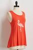 Yarn Textured Flamingo Tank