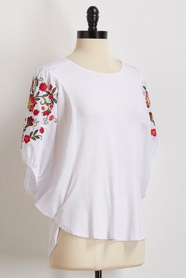 poplin balloon sleeve top