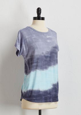 tie dye high-low tee