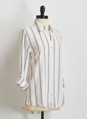 pin stripe button down shirt