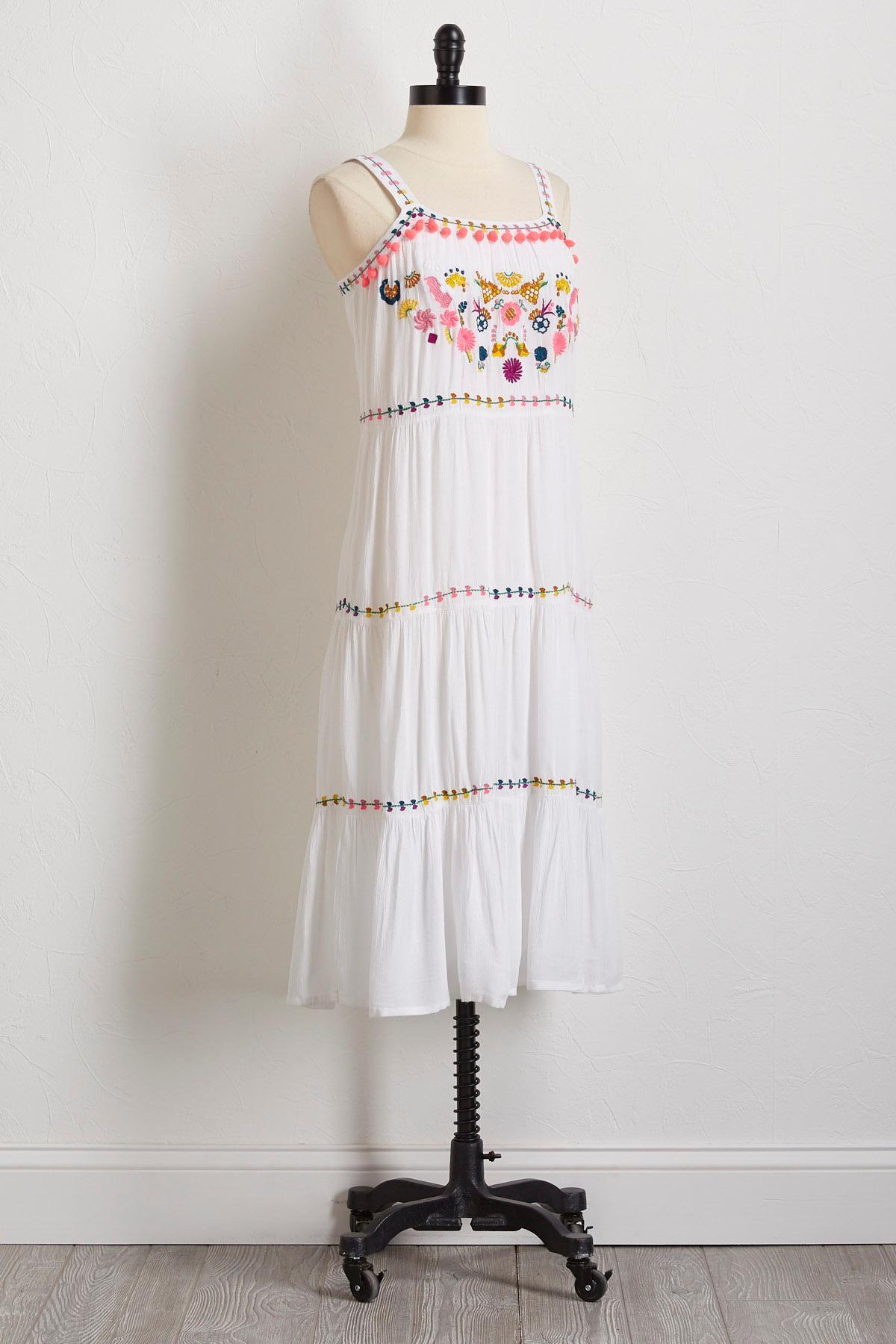 Gauze Neon Embellished Dress
