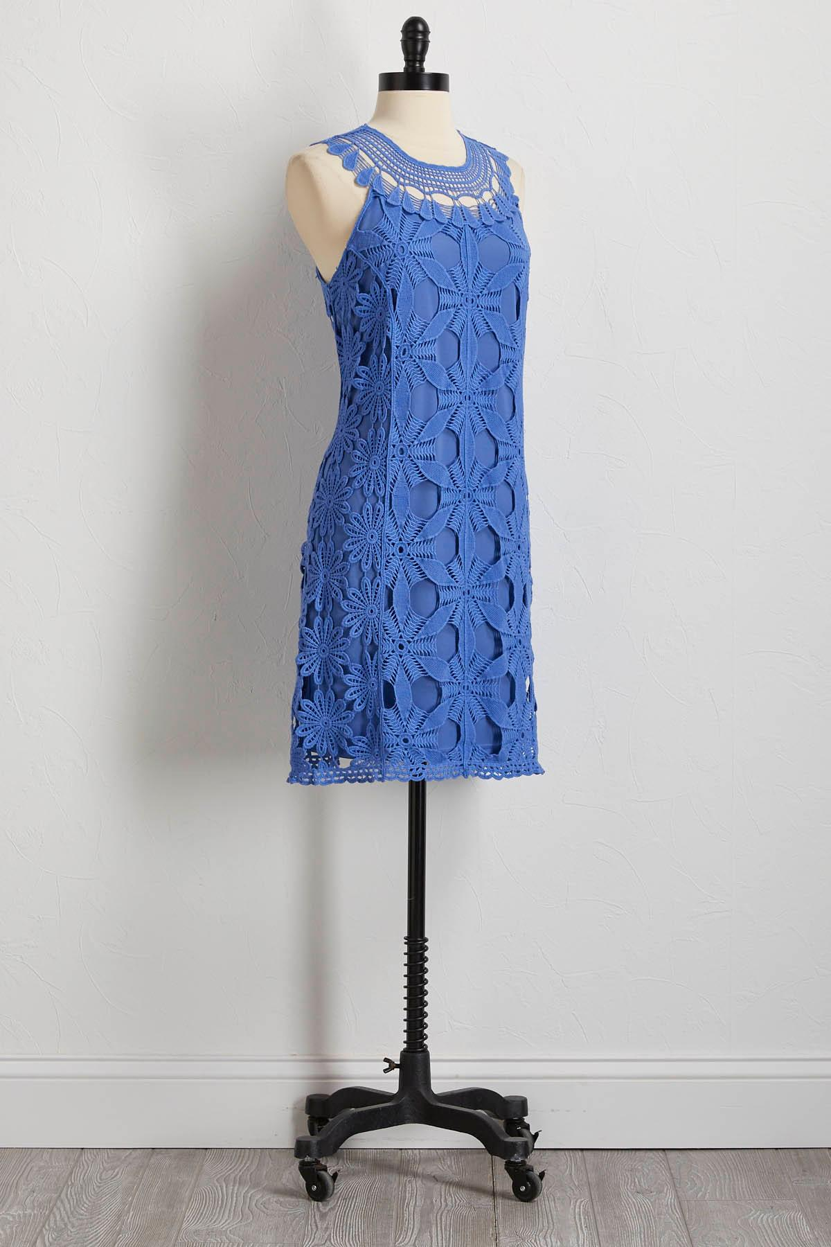 Sleeveless Crochet Sheath Dress