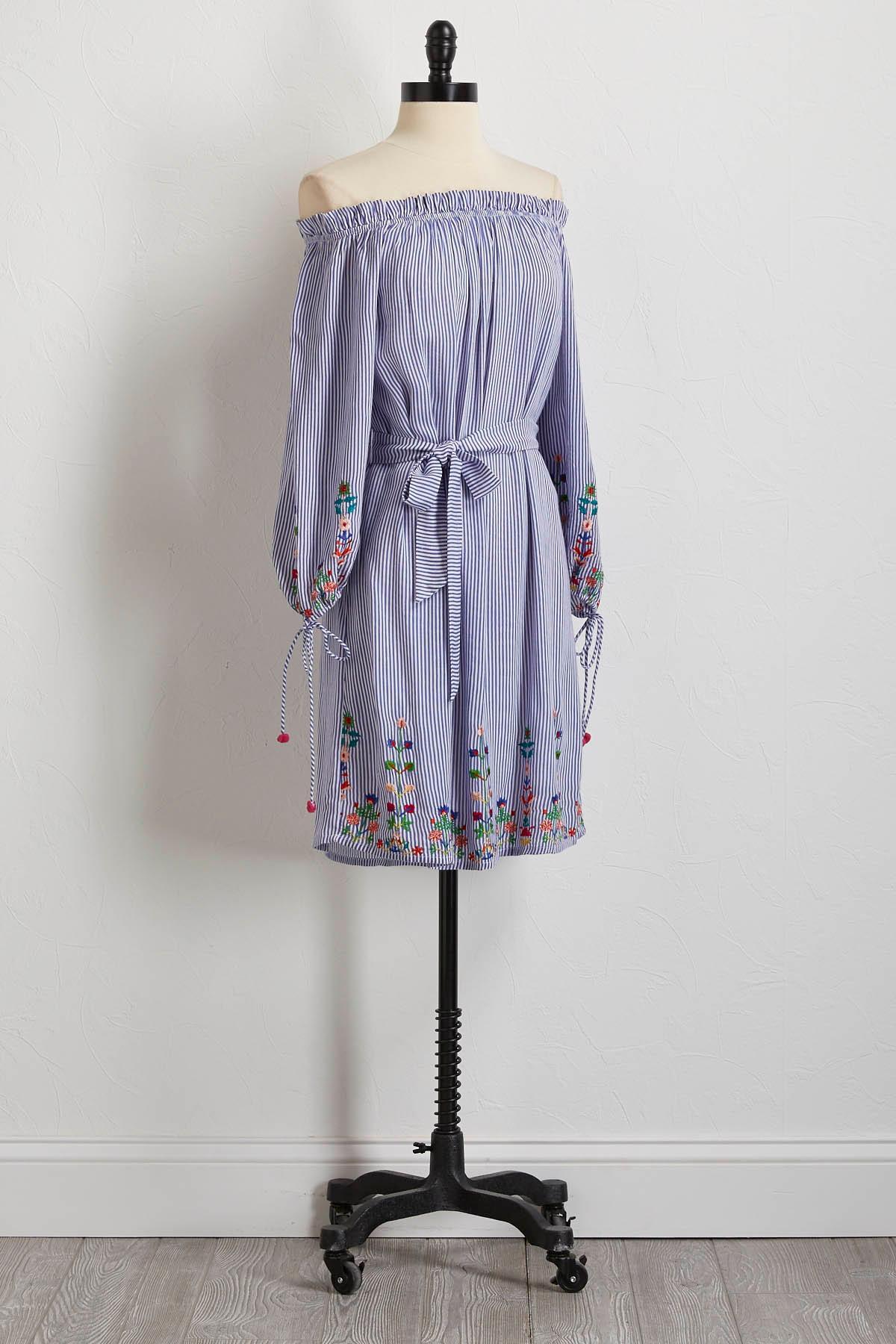 Embellished Off The Shoulder Dress