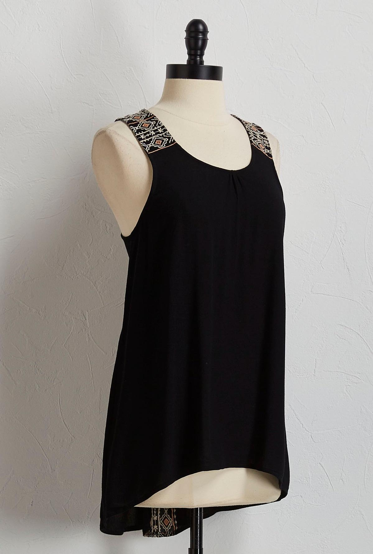 Embroidered High- Low Tunic