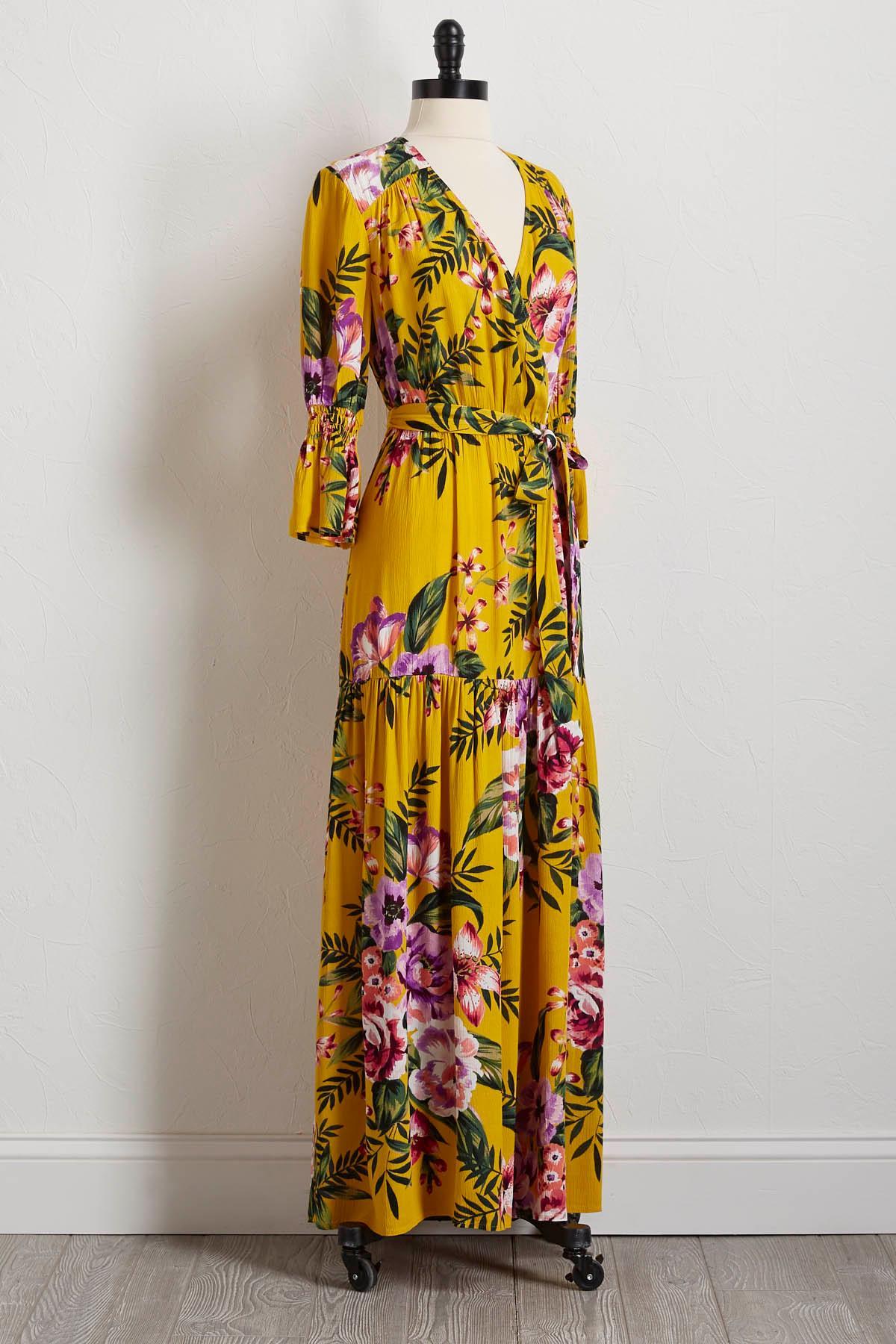 Gauze Floral Maxi Dress
