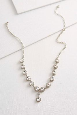 haloed rhinestone y-necklace